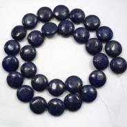 Lapis Lazuli 14mm Coin Beads