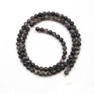 Larvikite 4mm Round Beads