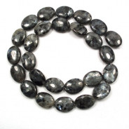 Larvikite 12x16mm Oval Beads