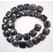 Larvikite 12mm Square Beads