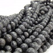 Lava Rock 6mm Round Beads