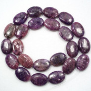 Lepidolite 13x18mm Oval Beads