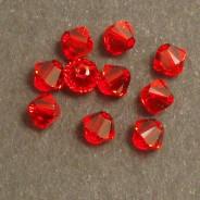 Swarovski® 4mm Light Siam Bicone Xilion Cut Beads (Pack of 10)