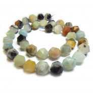 Multicolour Amazonite Faceted Nugget Beads