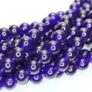 Malay Jade Amethyst 8mm Round Beads