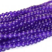 Malay Jade Amethyst 4mm Round Beads
