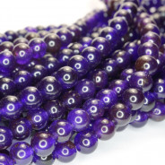 Malay Jade Amethyst 6mm Round Beads