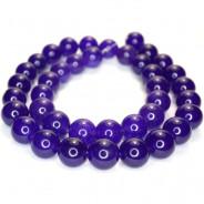 Malay Jade Amethyst 10mm Round Beads