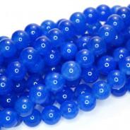 Malay Jade Blue 8mm Round Beads