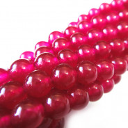 Malay Jade Fuchsia 6mm Round Beads