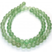 Malay Jade Green 6mm Round Beads