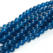 Malay Jade Mineral Blue 4mm Round Beads