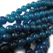 Malay Jade Mineral Blue 8mm Round Beads