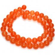Malay Jade Orange 8mm Round Beads