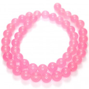 Malay Jade Rose Pink 8mm Round Beads