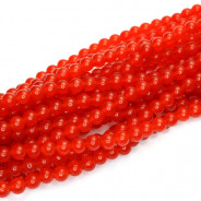 Malay Jade Red 4mm Round Beads