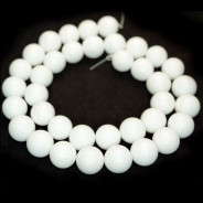 Malay Jade White 10mm Round Beads