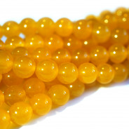 Malay Jade Yellow 8mm Round Beads