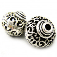 Tibetan Silver 17mm Large Bicone Beads (Pack 2)