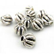Tibetan Silver 8mm Lantern Beads (Pack 10)