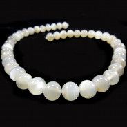 Moonstone Light Grey 10mm Round Beads