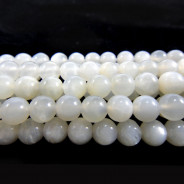 Moonstone Light Grey 6mm Round Beads