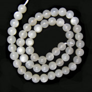 Moonstone Light Grey 8mm Round Beads