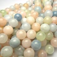 Morganite 8mm Round Beads