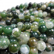 Moss Agate 6mm Round Beads