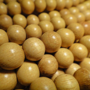 Nangka 8mm Round Wood Beads