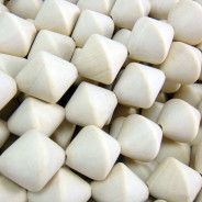 Natural White Wood 20x20mm Saucer Beads