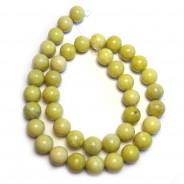 Natural Lemon Jasper 10mm Round Beads