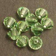 Swarovski® 4mm Peridot Bicone Xilion Cut Beads (Pack of 10)