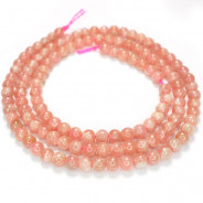 Rhodochrosite 3mm Round Beads