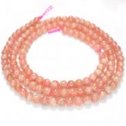 Rhodochrosite 3mm Round Beads