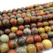 Picasso Jasper 6mm Round Beads