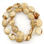 Picture Jasper 15x18mm Oval Beads
