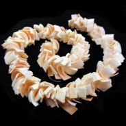 Overlapping Pink Luhuanus Shell Beads