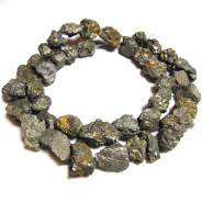 Pyrite 10mm Rough Nugget Beads