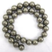 Pyrite 12mm Round Beads