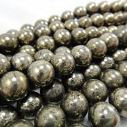 Pyrite 8mm Round Beads