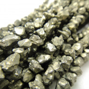 Pyrite 4mm Rough Nugget Beads