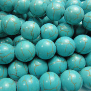 Reconstituted Turquoise 10mm Round Beads