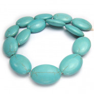 Reconstituted Turquoise 20x30mm Oval Beads