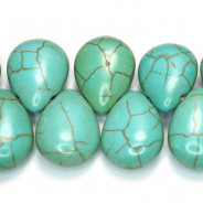 Reconstituted Turquoise 12x18mm Top Drilled Drop Beads