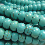 Reconstituted Turquoise 4x6mm Rondelle Beads