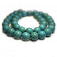 Reconstituted Turquoise 12mm Round Beads
