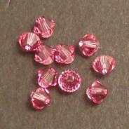 Swarovski® 4mm Rose Bicone Xilion Cut Beads (Pack of 10)