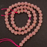 Rose Quartz 6mm Round Beads