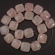 Rose Quartz 20mm Square Beads